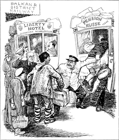 Learn more about the 'rival buses' cartoon to understand how the superpower rivalry gave rise to the outbreak of the Cold War.