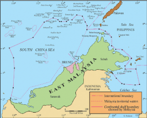 East Malaysia Map - Adapted from Haller-Trost (1998)