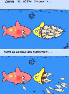 JC History Tuition Online - South China Sea Dispute Cartoon ASEAN Solidarity